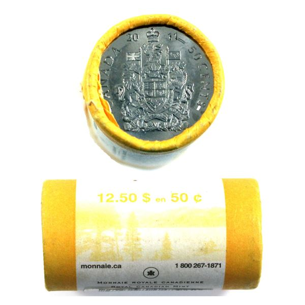 2011 Canada 50-cent Original Roll of 25pcs.