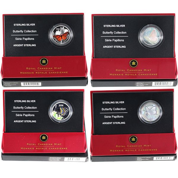 2005-2006 Canada 50-cent Butterfly Series Sterling Silver Coins - 2005 Great Spangled Fritillary, 20