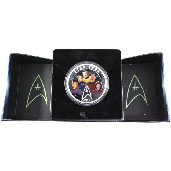 2017 Canada $30 Star Trek - Five Captains Fine Silver Coin. (TAX Exempt)