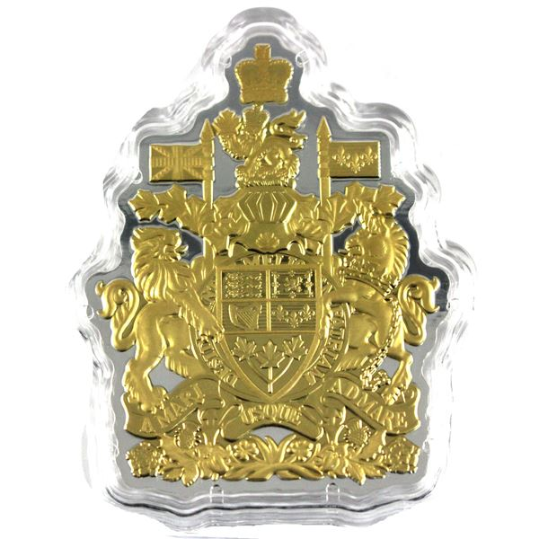 2020 Canada $50 Real Shapes - The Coat of Arms Fine Silver Coin Encapsulated with COA in Plastic Pou
