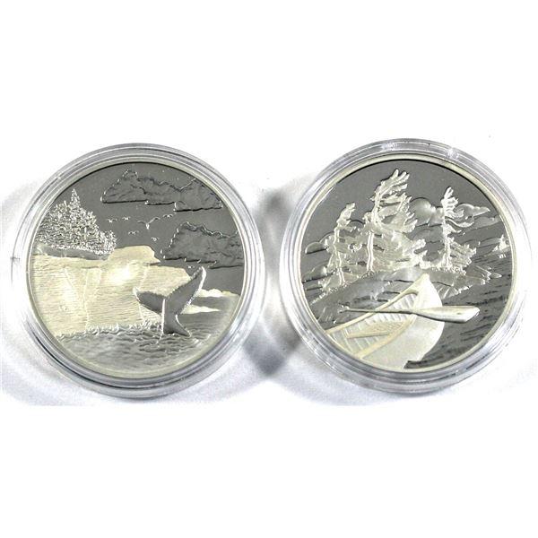 2005 Canada $20 Mingan Archipelago & 2006 $20 Georgian Bay National Parks Series Fine Silver Coins E