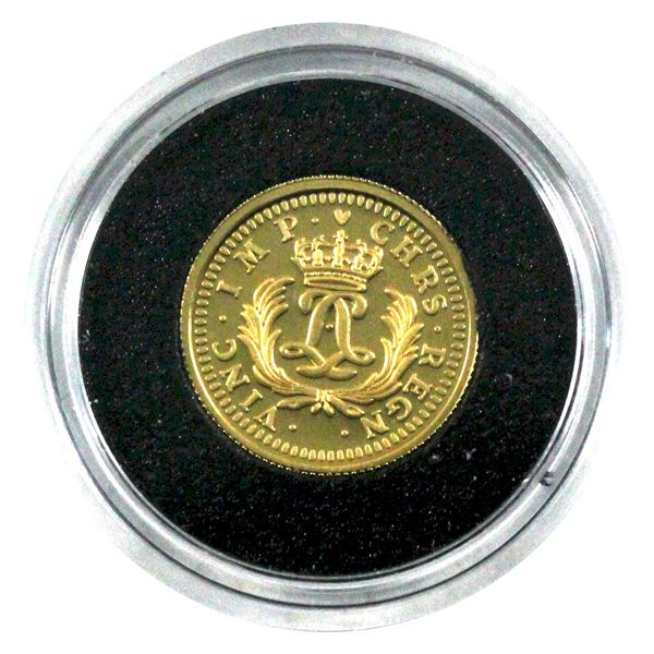 2006 Canada $1 Gold Louis 1/20oz Fine Gold Coin in Capsule. (TAX Exempt)