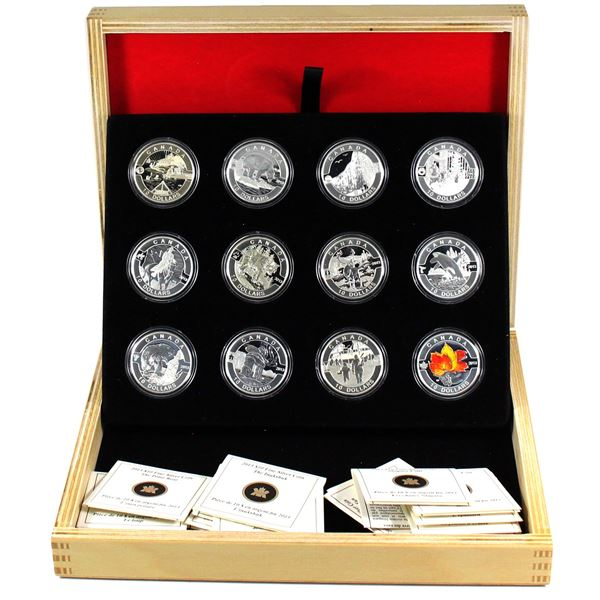 2013 O Canada $10 12-Coin Fine Set with Deluxe Box. (TAX Exempt)