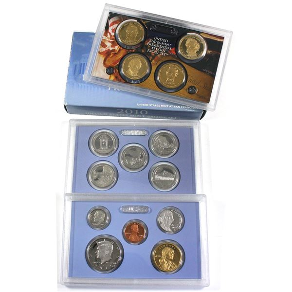 2010 United States Mint 14-coin Proof Set.
