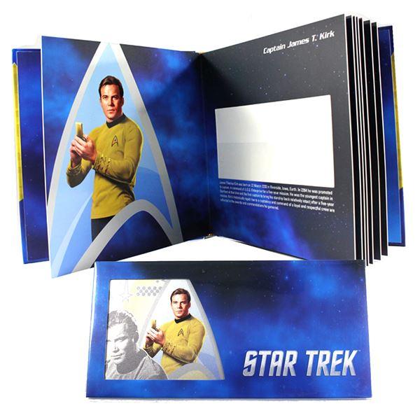 2018 Niue $1 Star Trek Collector Album with Captain Kirk 5 Gram Fine Silver Foil Note. (TAX Exempt)