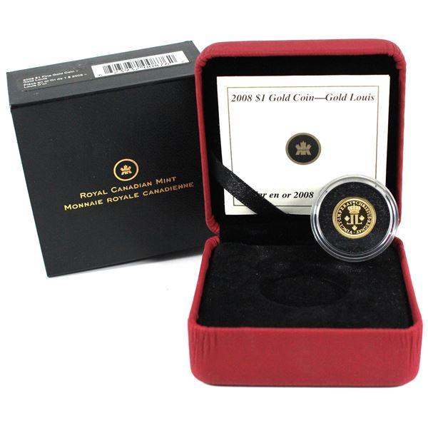 2008 Canada $1 1/20oz Fine Gold Louis. (TAX Exempt)