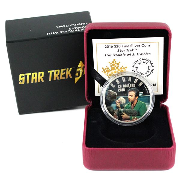 2016 Canada $20 Star Trek - The Trouble with Tribbles Fine Silver Coin. TAX Exempt