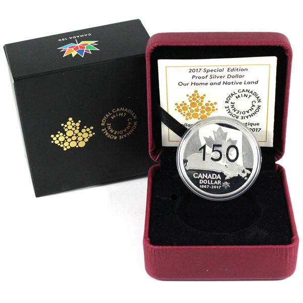 2017 Canada $1 Our Home & Native Land Special Edition Proof Fine Silver Dollar. (TAX Exempt)