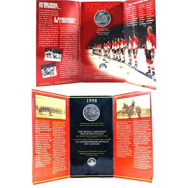 1997 Canada Brilliant Uncirculated Silver Dollar Gift set & 1998 Brilliant Uncirculated dollar and C