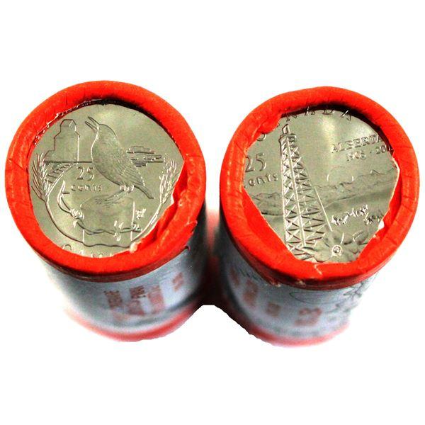2005P Saskatchewan & Alberta 25-cent  special wrapped Original roll of 40pcs. 2 rolls