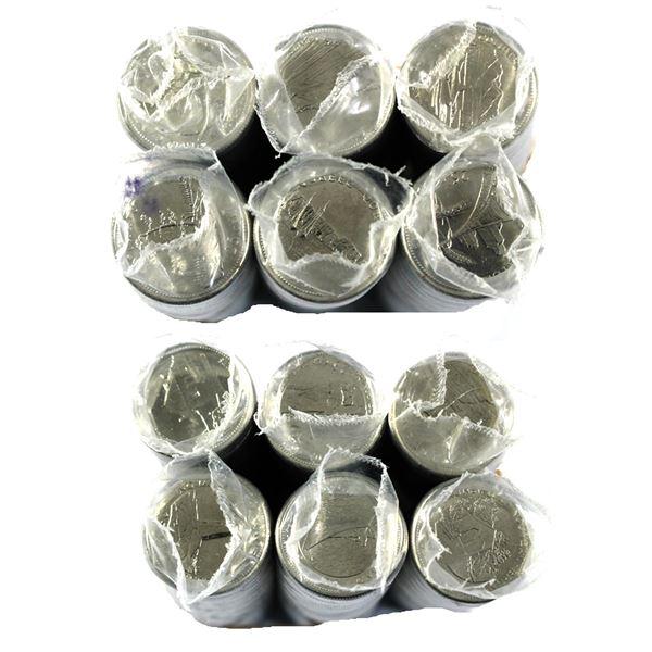 * 12x 1992 Canada 25-cent Commemorative Original Rolls of 40pcs. You will receive every Provincial e