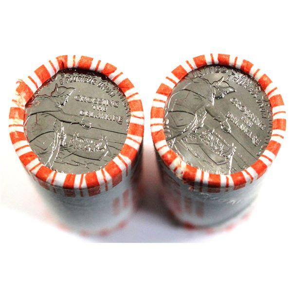 2021 P & D  USA Quarters - George Washington Crossing the Delaware Original Roll of 40pcs. 2 rolls