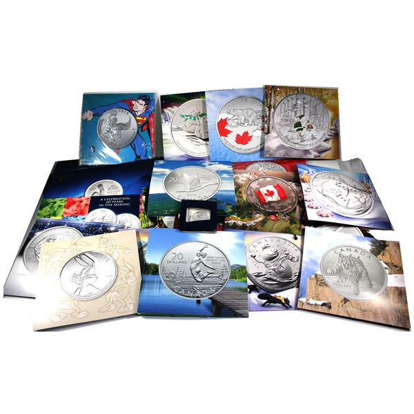 2011 to 2016 Canada $20 for $20  and $25 for $25 Series.  All $20 Fine Silver Coins come in original