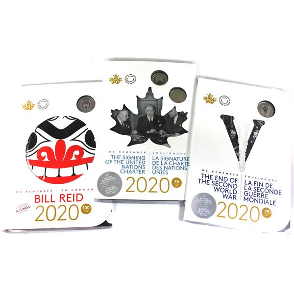 2020 Bill Red & 2020 75th Anniversary of the end of WWII Keepsake sets. You will receive 3 sets.