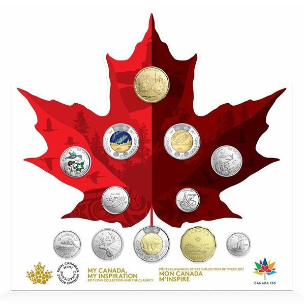 2017 Canada 150 Circulation 12-Coin Keepsake Collection