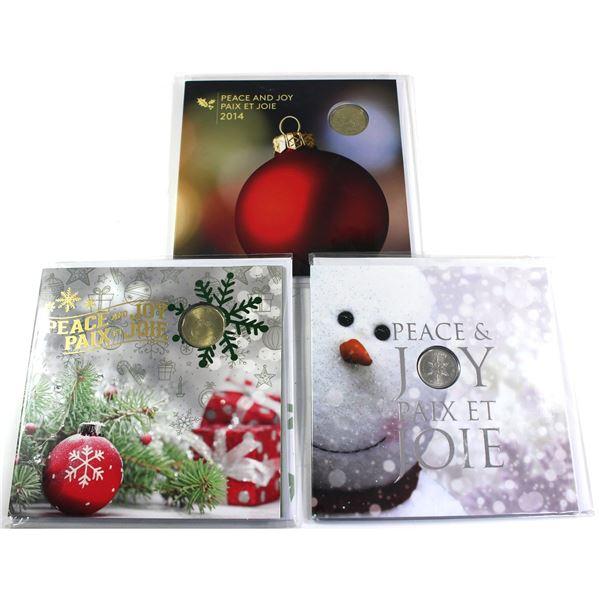2011,2014 & 2016 Canada Holiday Gift sets. 3pcs