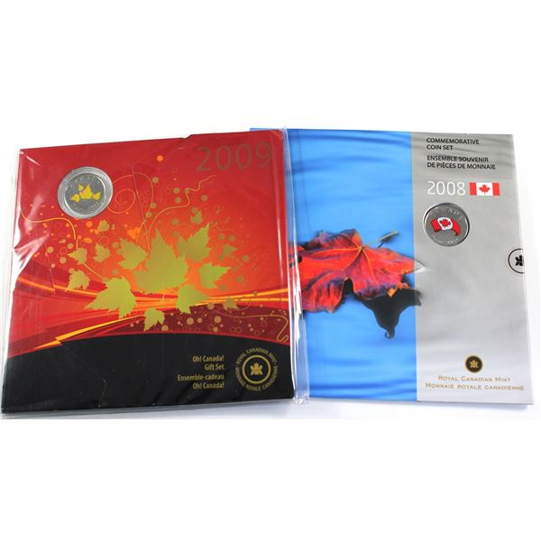 2008 & 2009 Oh Canada Gift set. 2 sets