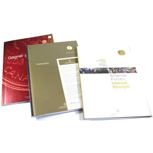 2003-2006 Canada RCM Annual Report Collection. You will receive the 2003 Report with Gold Plated 1-c