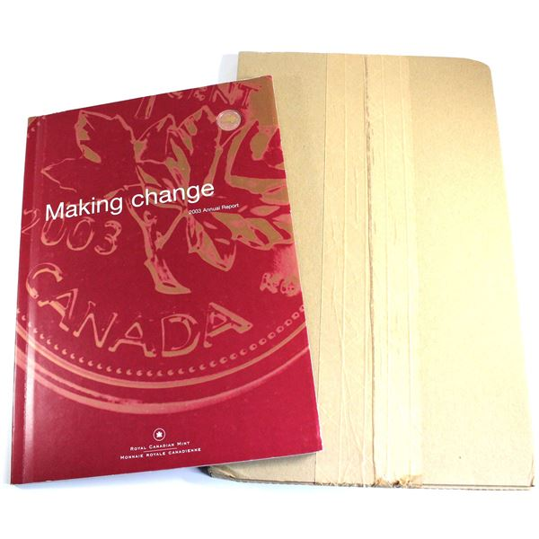 2003 & 2004 Canada RCM annual report collection. You will receive the  2003 Report with Gold Plated