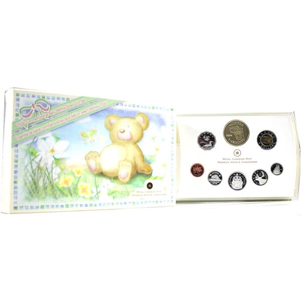 2006 Baby Sterling Silver Proof Set with Medallion and Loon. Please note outer box contains wear.