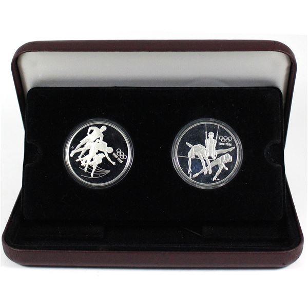 1896-1996 Centennial coin Program proof silver  $15 Spirit of the Generations &  Citius Altius Forti