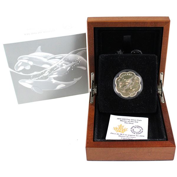 2016 Canada $20 Master of the Sea - The Orca Fine Silver Coin (Tax Exempt).