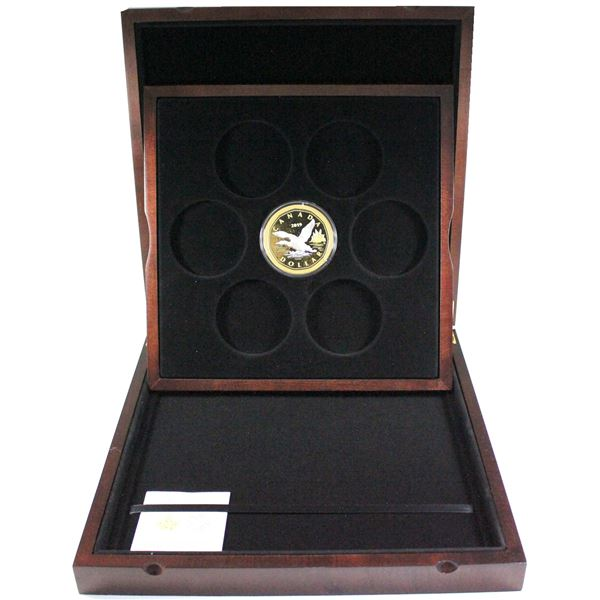 2019 Canada $1 Big Coin Reverse Gold-Plated 5oz Fine Silver Coin in Deluxe Subscription Case with CO