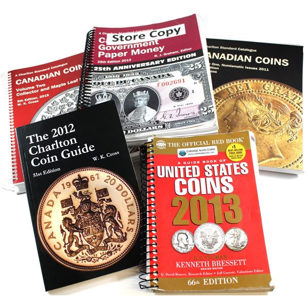 * Lot of 2011-2015 Standard Catalogues of Coins & Paper Money. This lot includes the 2011 Charlton S