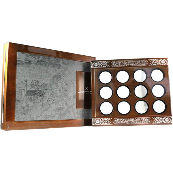 Empty 2010-2021 Silver $15 Lunar zodiac 12-Year Subscription Series Deluxe display box Issued by the