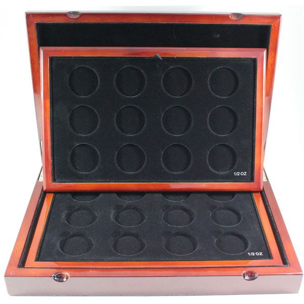 *EMPTY RCM Master Club Collector Display Case with 2 trays. Stunning solid wood case inlaid with a h