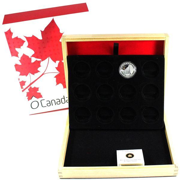 2013 $10 Fine Silver 12-Coin Subscription Deluxe Wooden display Box  with 2012 $10 Niagara Falls fin