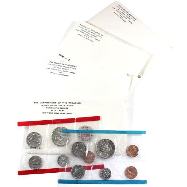 1968, 1970,1971 & 1972 USA P& D Uncirculated Mint sets. Coins come in the original mint envelopes, e