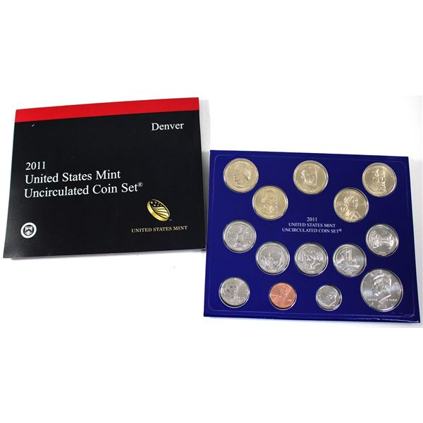 2011 United States  P & D 28-coin uncirculated set.