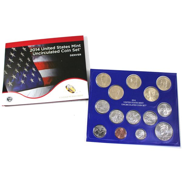 2014 United States  P & D 28-coin uncirculated set.