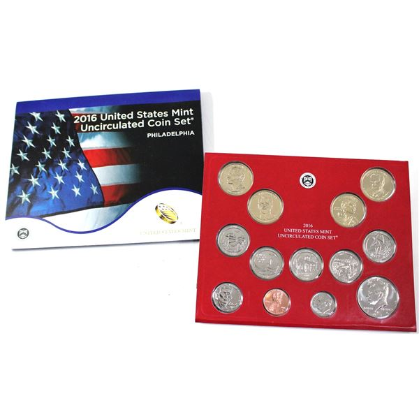 2016 United States  P & D 28-coin uncirculated set.