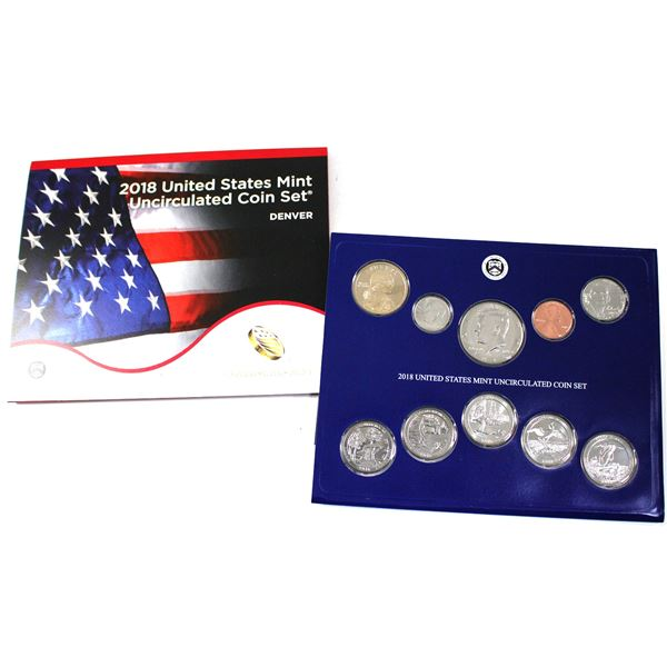 2018 United States  P & D 28-coin uncirculated set.