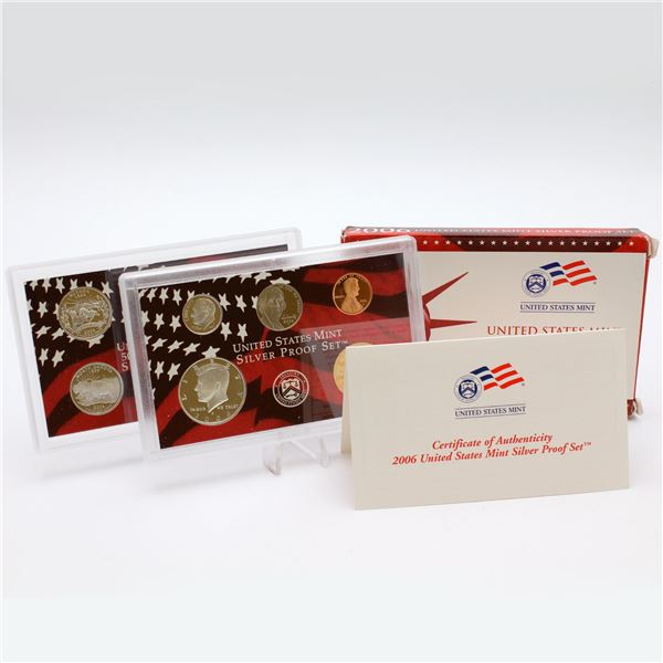 2006 United States mint 10-coin Silver  Proof set with original box and COA