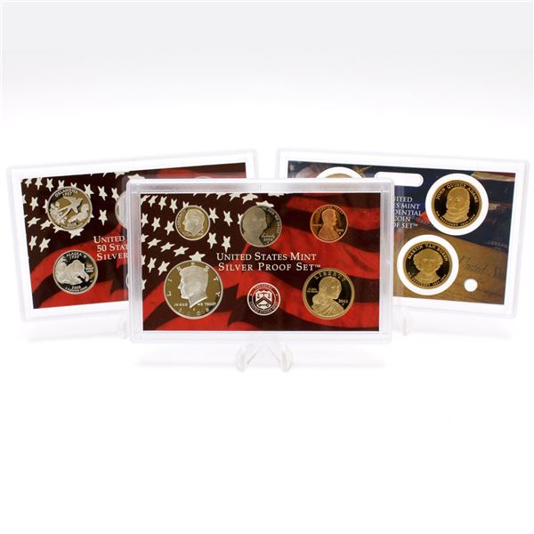 2008 United States Mint 14-coin Silver Proof set with original box and COA.