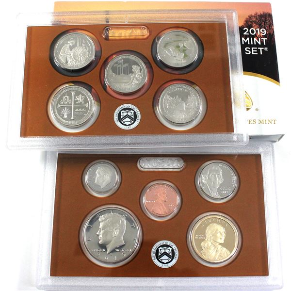 2019 United States mint 10-coin Proof set with Original box and COA