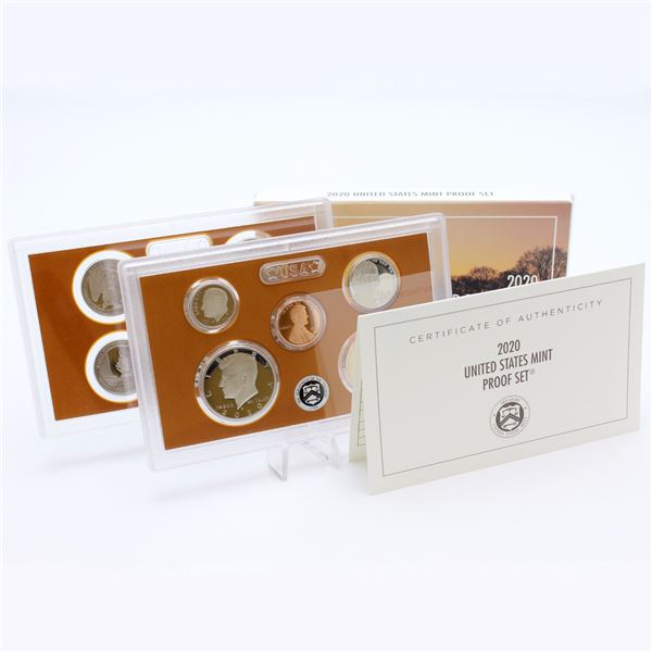 2020 United States mint 10-coin Proof set with original box and COA