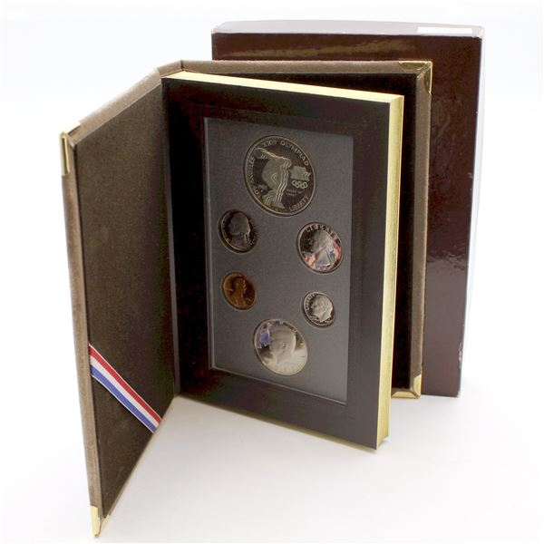 1983 USA Silver Prestige Proof set with Olympic Silver dollar.