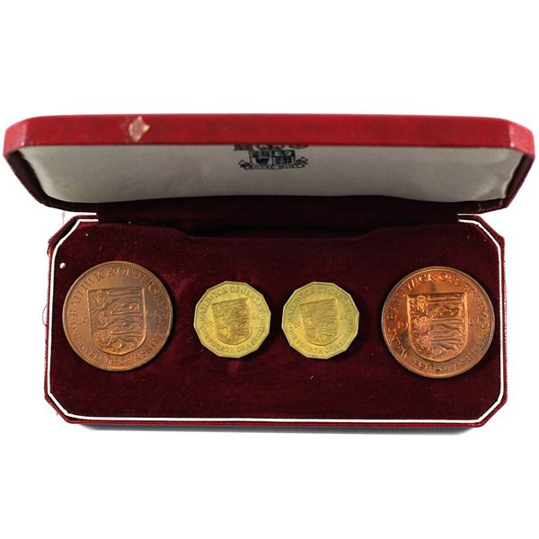 1964 Jersey 4-coin Proof Set. Box is bent.