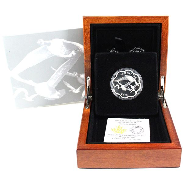 2015 $20 Canada Goose - Master of the Sky Fine Silver Coin (2 small marks on sleeve). TAX Exempt