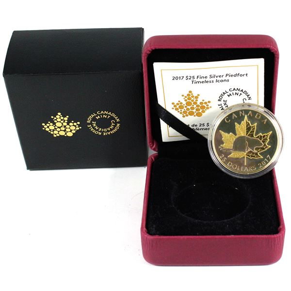 2017 Canada $25 Timeless Icons - Piedfort Fine Silver Coin. TAX Exempt