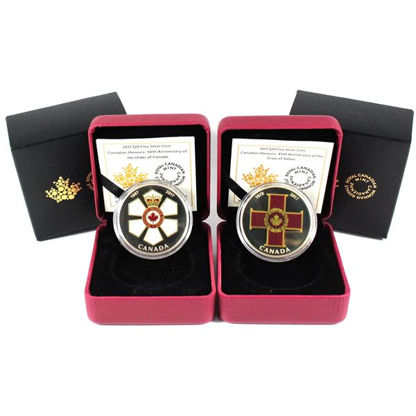 2017 $20 Canadian Honours - 50th Anniversary of the Order of Canada & 45th Anniversary of the Cross
