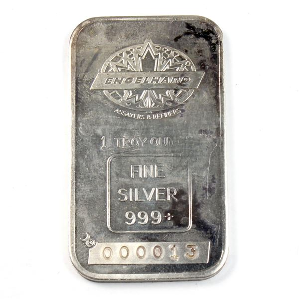 1oz Engelhard .999+ Fine Silver Bar with Blank Back and LOW Serial Number 000013!!!!! (TAX Exempt)