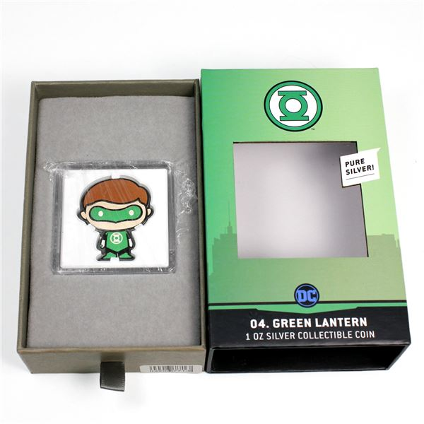 2020 Niue $2 Chibi Coins - DC Comics Green Lantern 1oz Coloured .999 Fine Silver Shaped Coin. Mintag