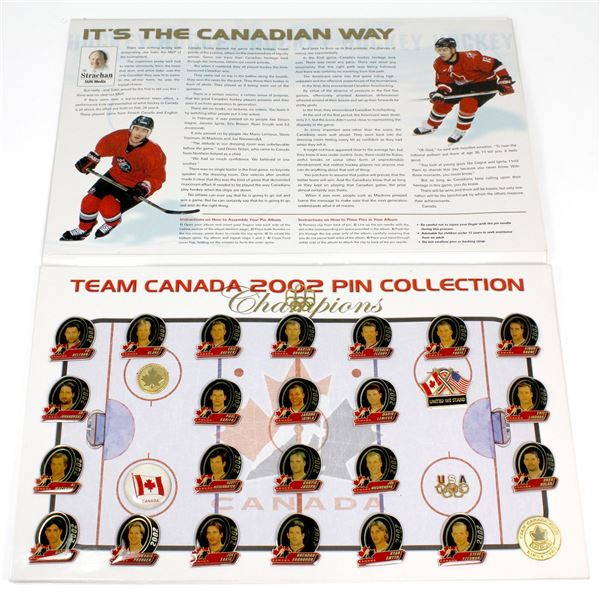 2002 Team Canada Official Commemorative Gold Edition Official Pin Collection. Featuring 23 different