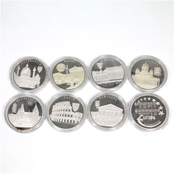 Estate Lot of 1996 Europa Commemorative .999 Fine Silver Coins from Different European Countries. Yo