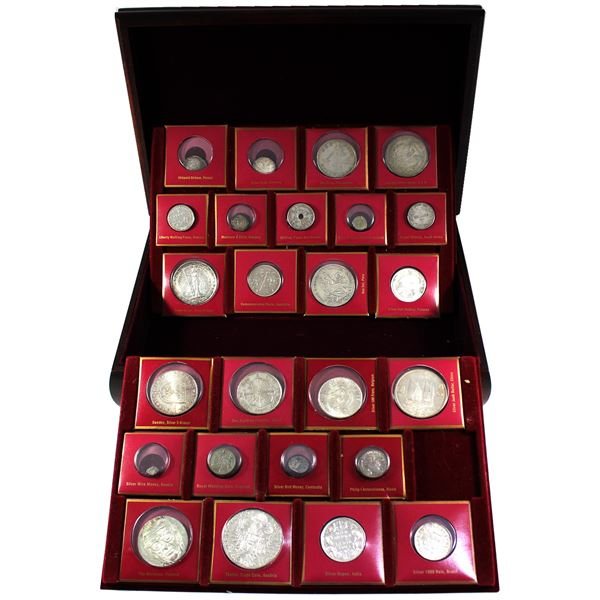 The Historic Silver Coins of the World Collection. Features 25x different silver coins from around t